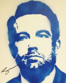 Ben Affleck (30x40cm) signed, London