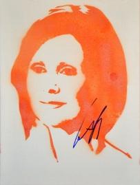 Cynthia Nixon (30x40cm) signed, Berlin