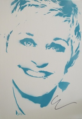 Ellen Degeneres (30x40cm) signed, London