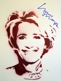 Dame Emma Thomspon (30x40cm) signed, Berlin