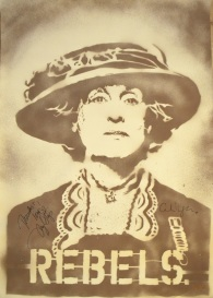 Meryl Streep as Emmeline Pankhurst (70x100cm) signed, London