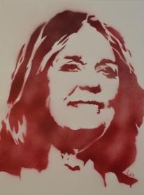 Gloria Steinem (30x40cm) unsigned