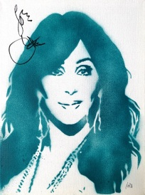 Cher (30x40cm) signed, London