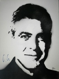 George Clooney (30x40cm) signed, Berlin