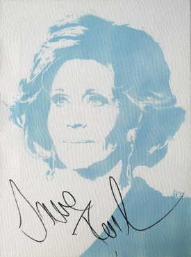 Jane Fonda (30x40cm) signed, London