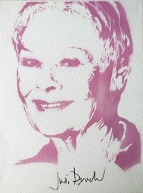 Dame Judi Dench (30x40cm) signed, London
