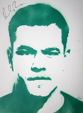 Matt Damon (30x40cm) signed, London